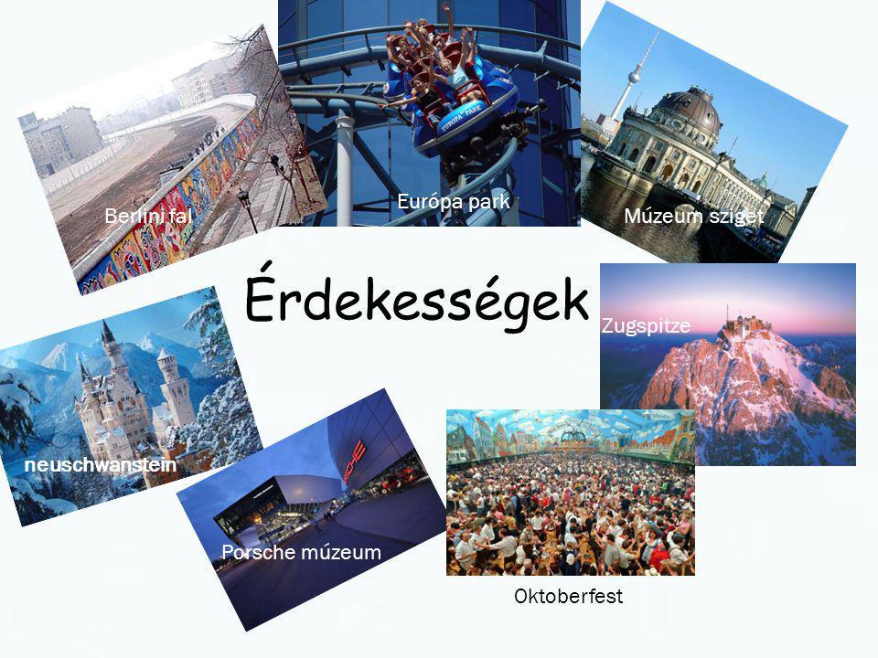 Érdekességek Európa park Berlini fal Múzeum sziget Zugspitze