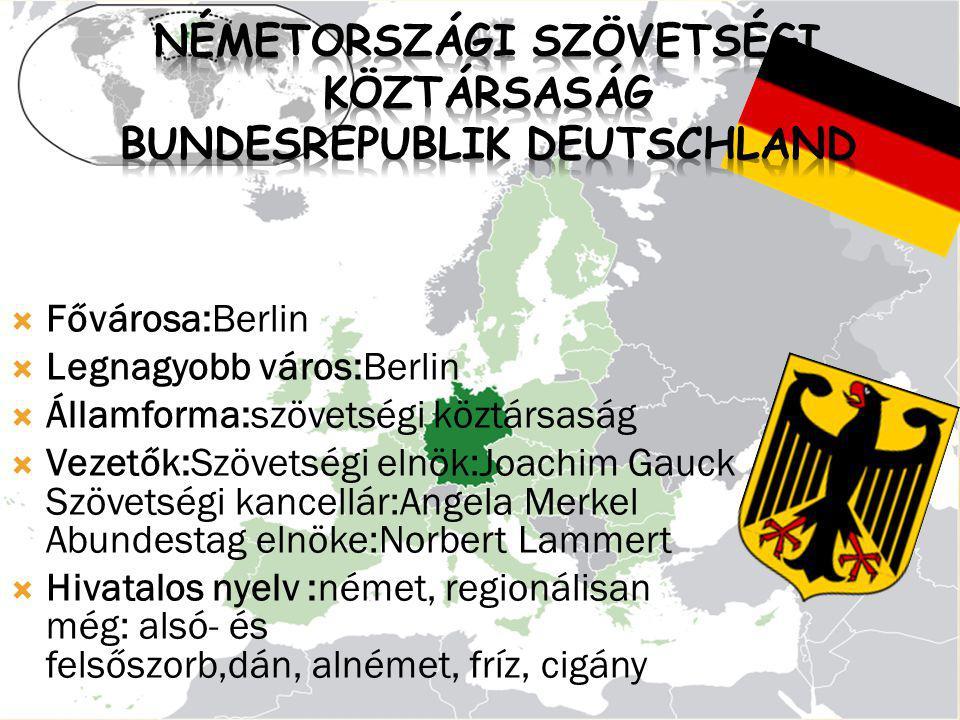 Németországi Szövetségi Köztársaság Bundesrepublik Deutschland
