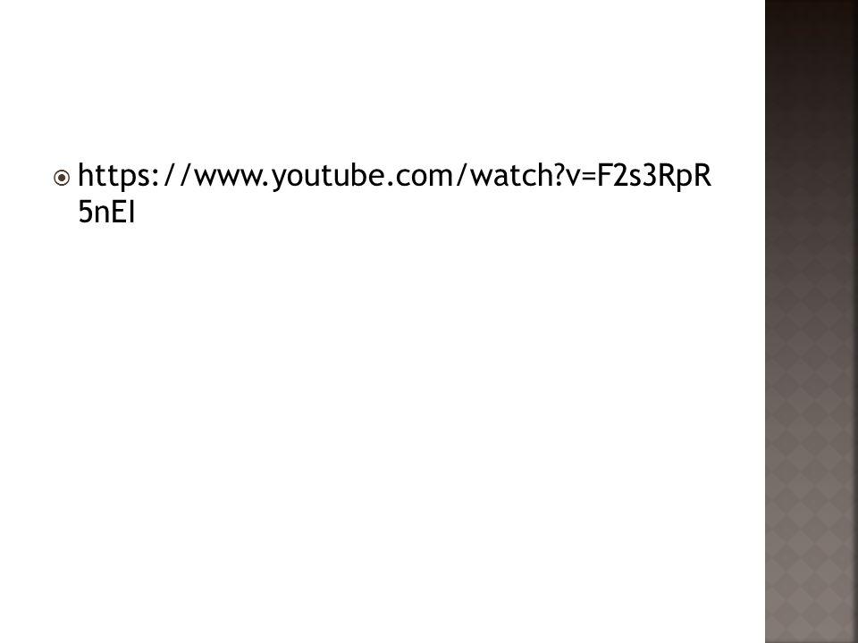 https://www.youtube.com/watch v=F2s3RpR 5nEI