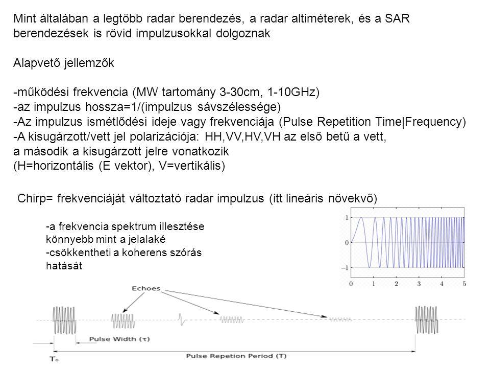 -működési frekvencia (MW tartomány 3-30cm, 1-10GHz)