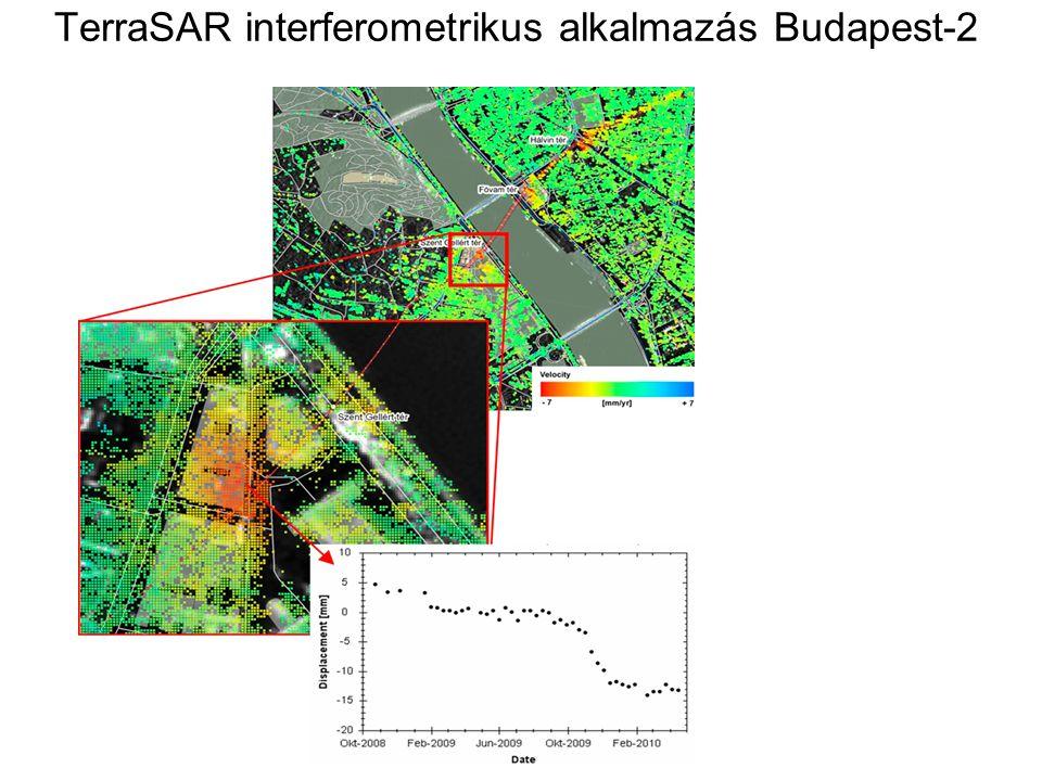 TerraSAR interferometrikus alkalmazás Budapest-2