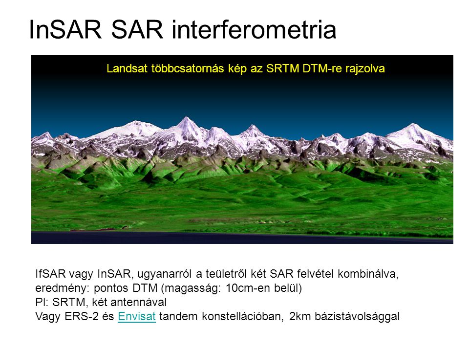 InSAR SAR interferometria