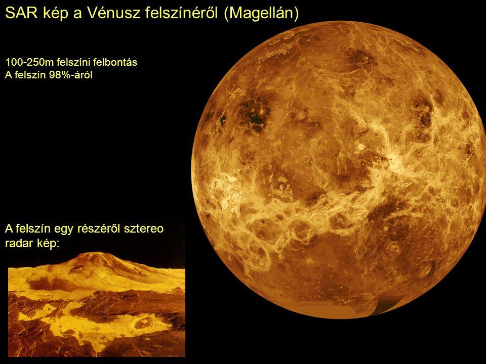 SAR kép a Vénusz felszínéről (Magellán)