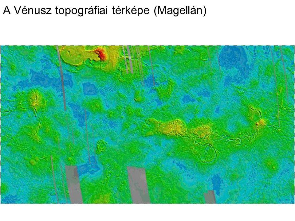 A Vénusz topográfiai térképe (Magellán)