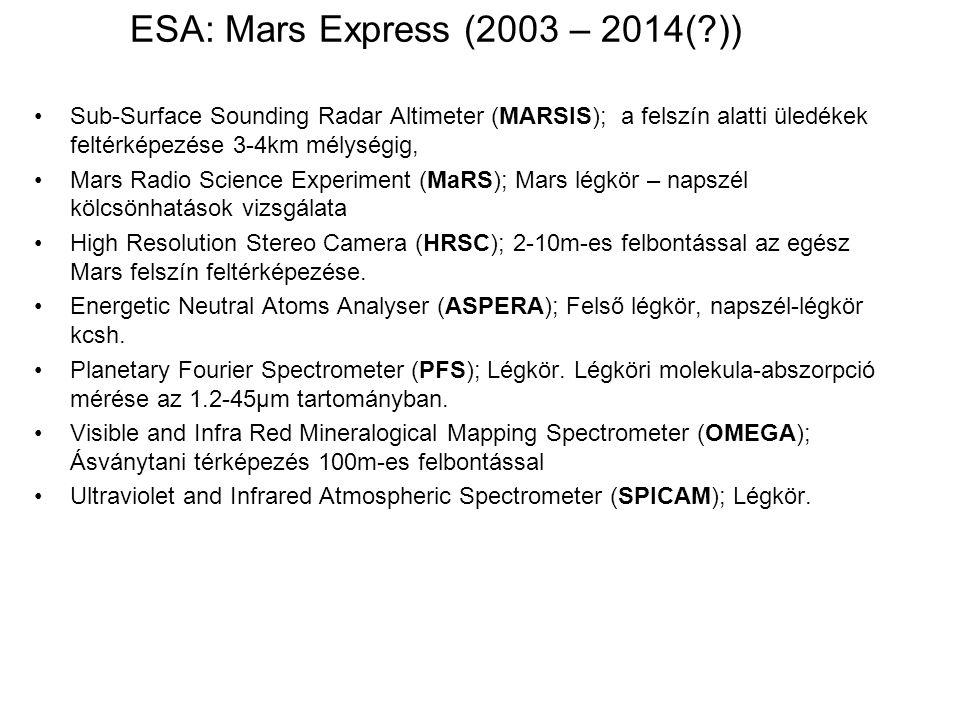 ESA: Mars Express (2003 – 2014( ))