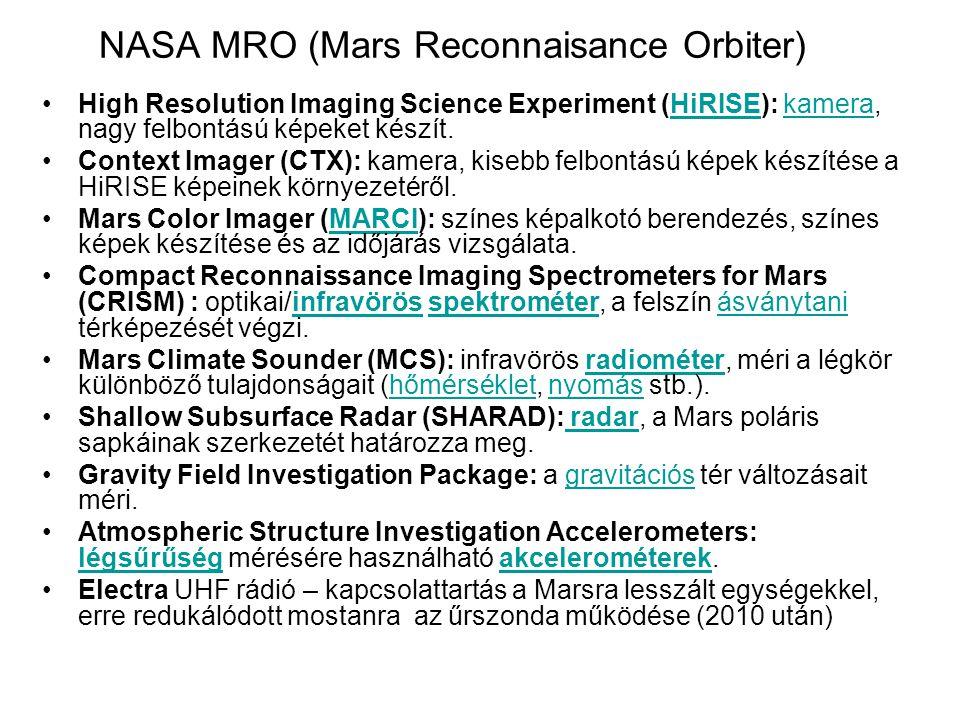 NASA MRO (Mars Reconnaisance Orbiter)
