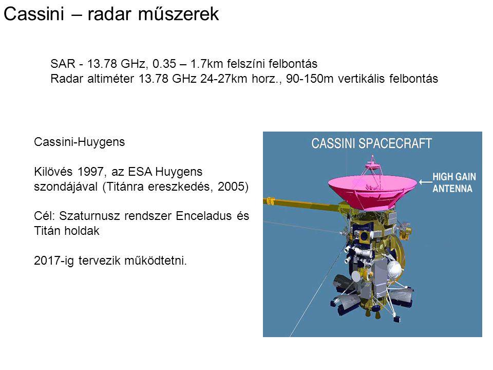 Cassini – radar műszerek