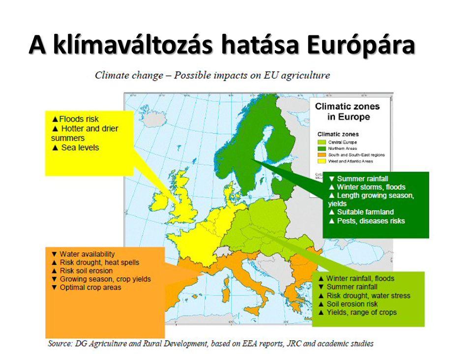 A klímaváltozás hatása Európára
