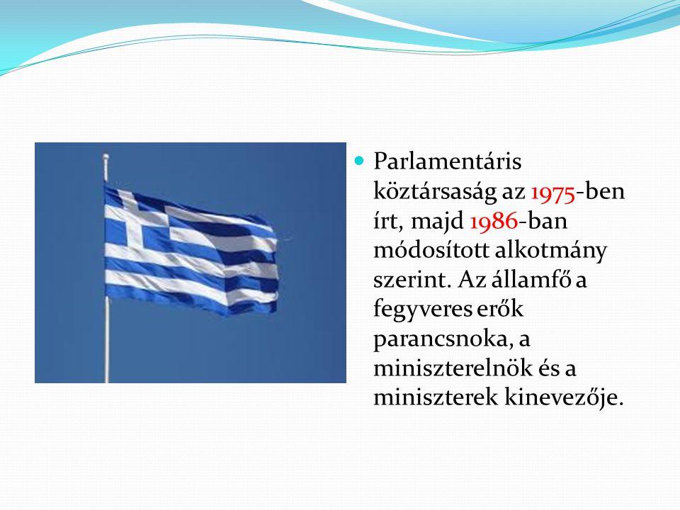 Parlamentáris köztársaság az 1975-ben írt, majd 1986-ban módosított alkotmány szerint.
