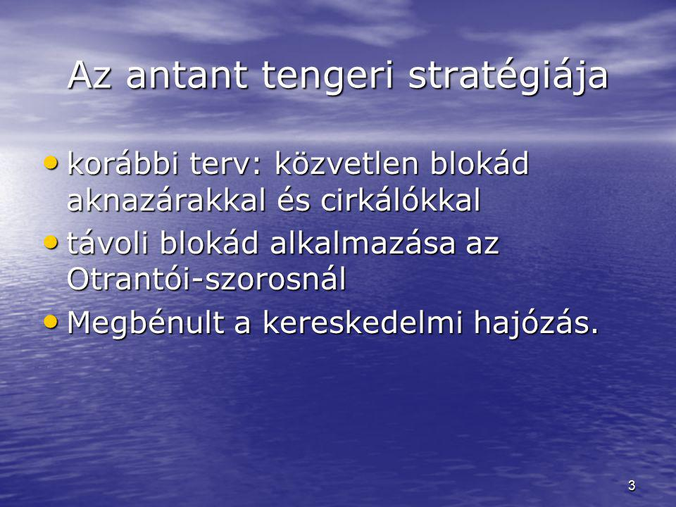 Az antant tengeri stratégiája