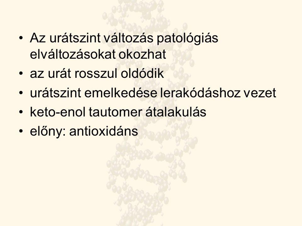 Az urátszint változás patológiás elváltozásokat okozhat