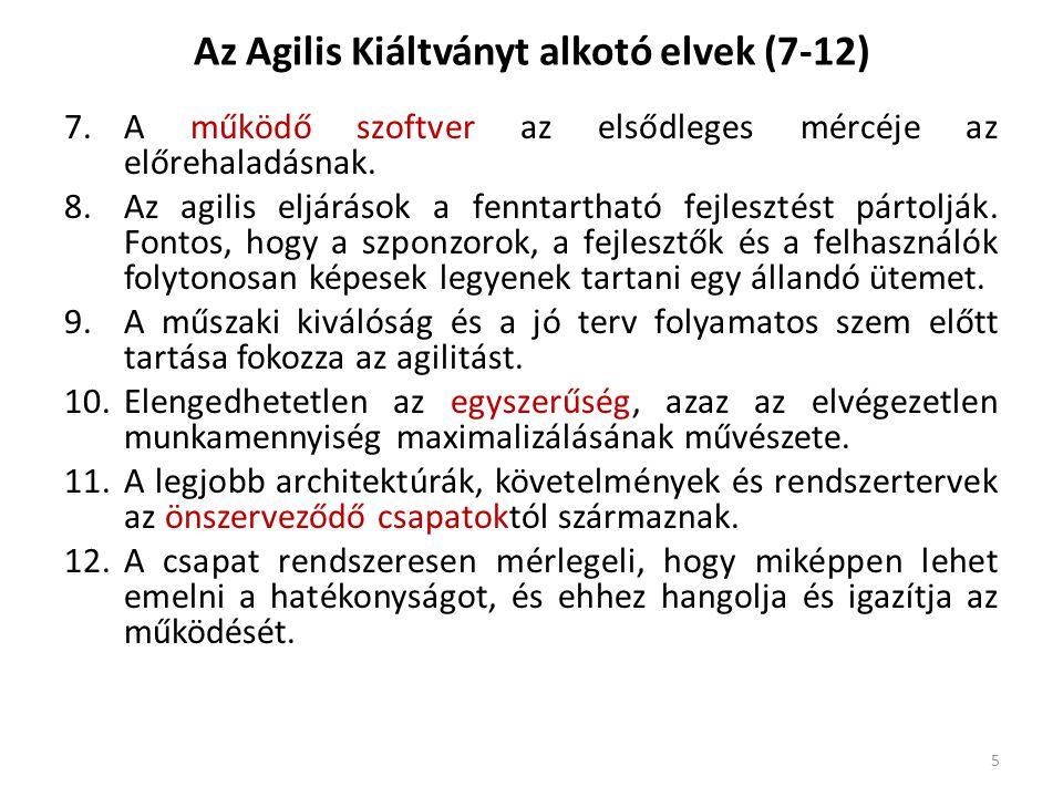 Az Agilis Kiáltványt alkotó elvek (7-12)