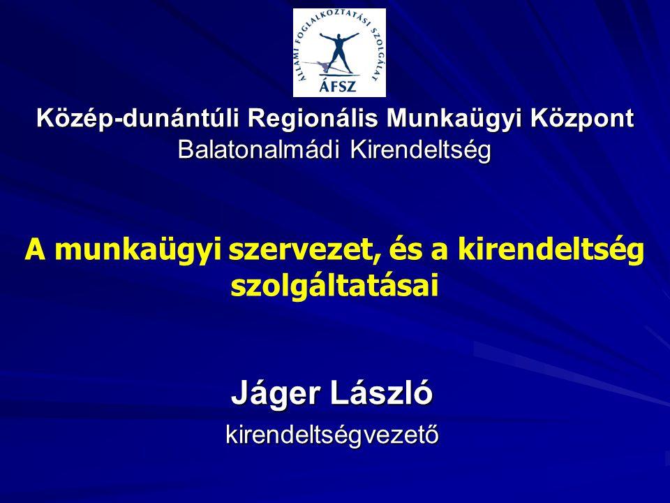Jáger László kirendeltségvezető