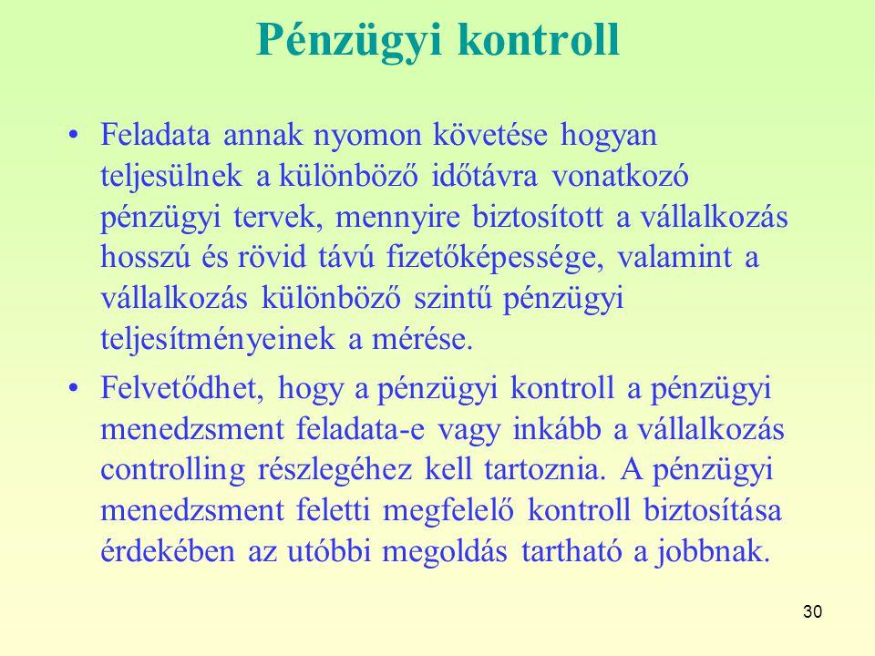 Pénzügyi kontroll