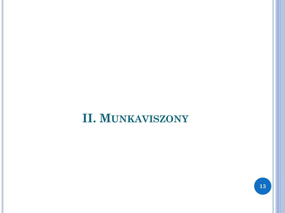 II. Munkaviszony 13