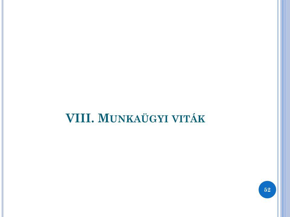VIII. Munkaügyi viták 52