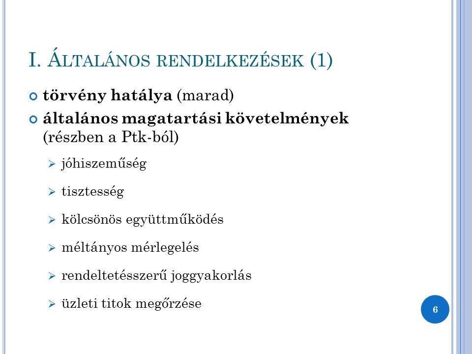 I. Általános rendelkezések (1)