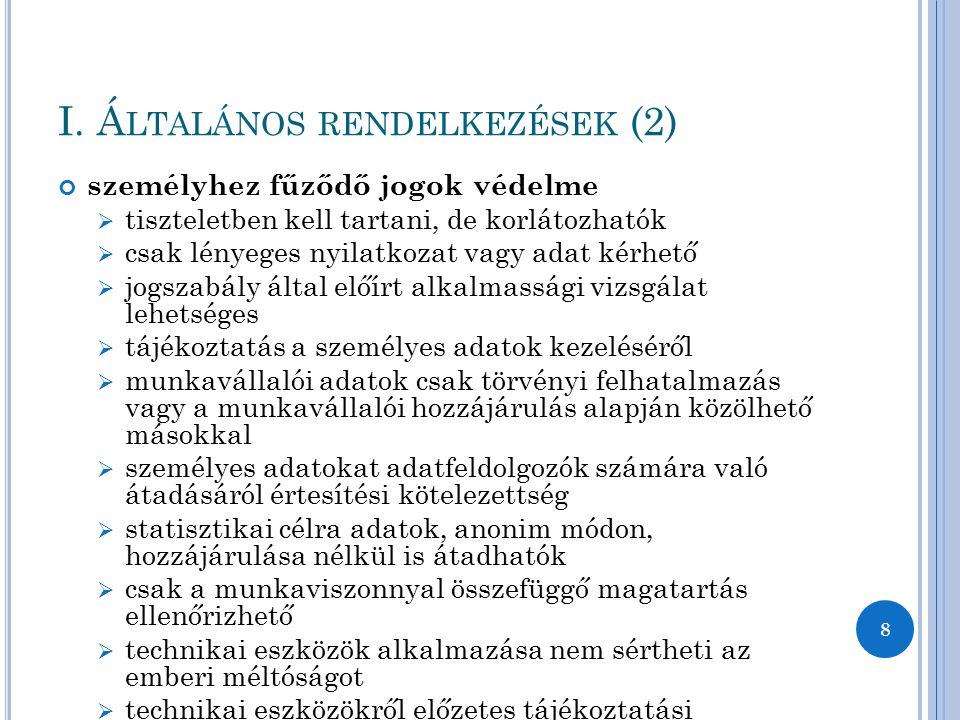 I. Általános rendelkezések (2)