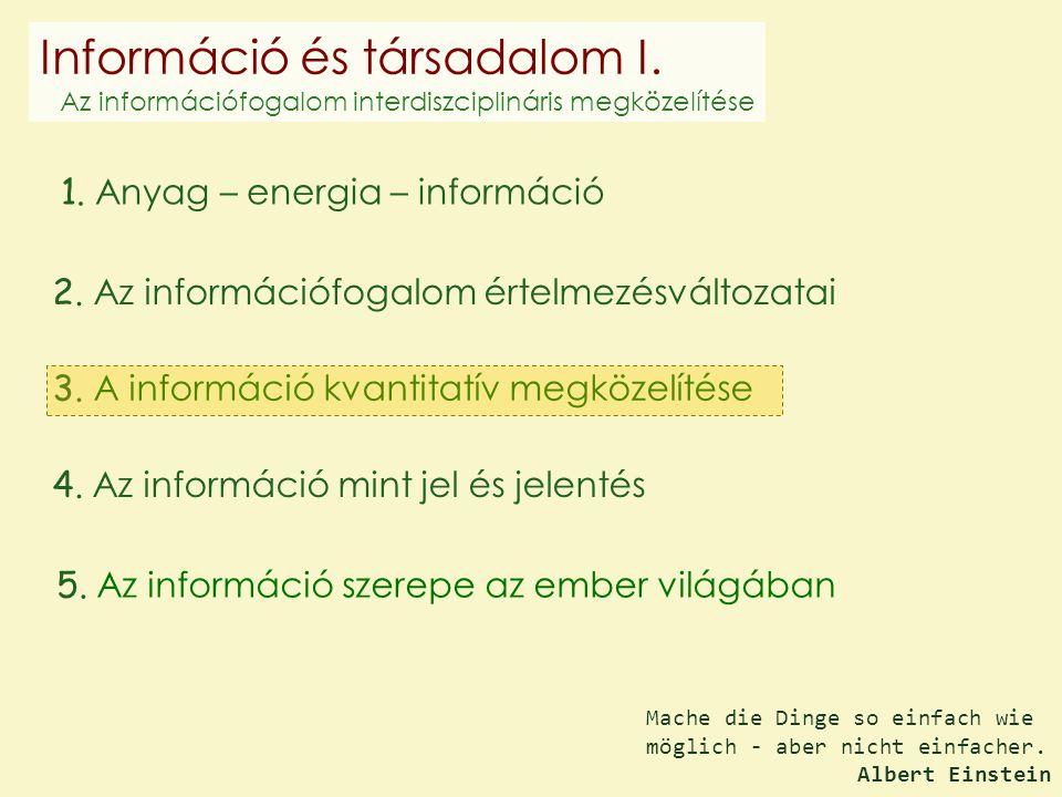 Információ és társadalom I