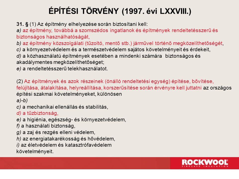 ÉPÍTÉSI TÖRVÉNY (1997. évi LXXVIII.)
