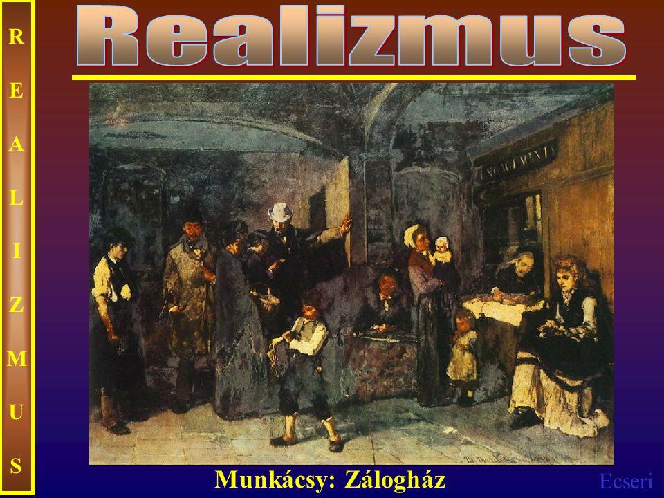 Realizmus REALIZMUS Munkácsy: Zálogház