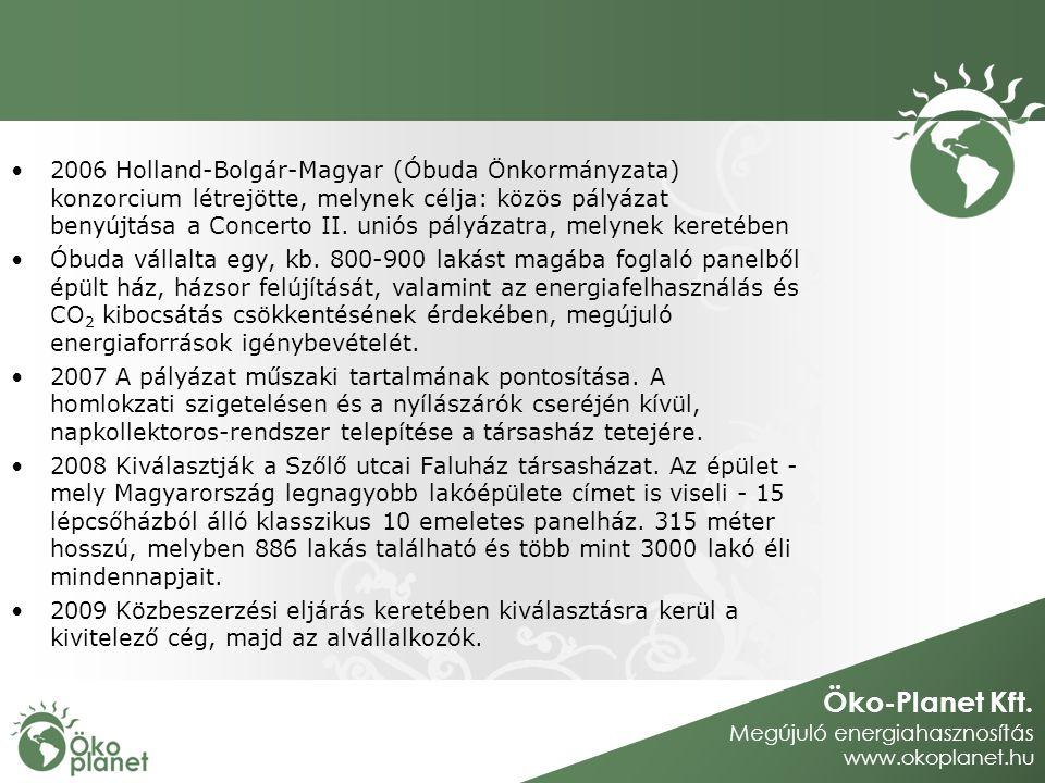 2006 Holland-Bolgár-Magyar (Óbuda Önkormányzata) konzorcium létrejötte, melynek célja: közös pályázat benyújtása a Concerto II. uniós pályázatra, melynek keretében