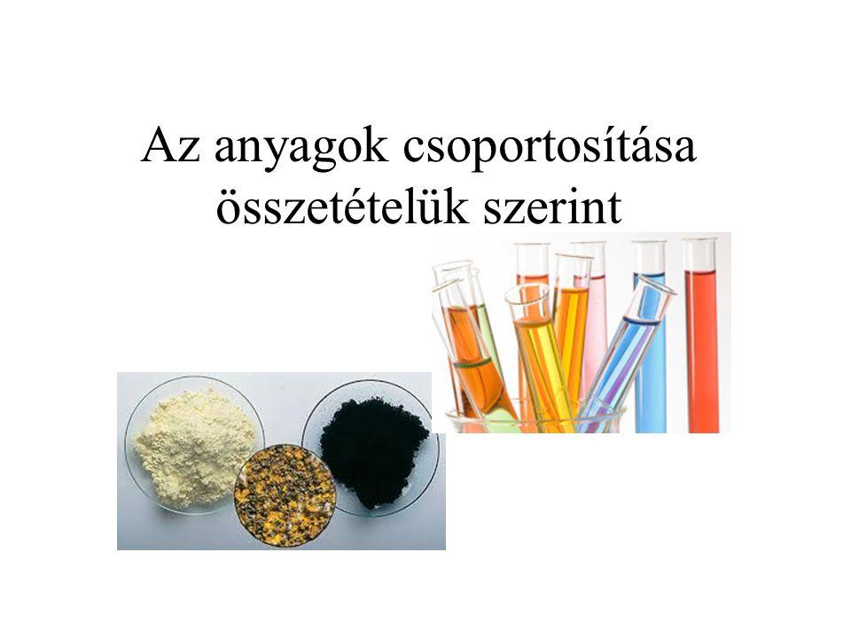 Az anyagok csoportosítása összetételük szerint