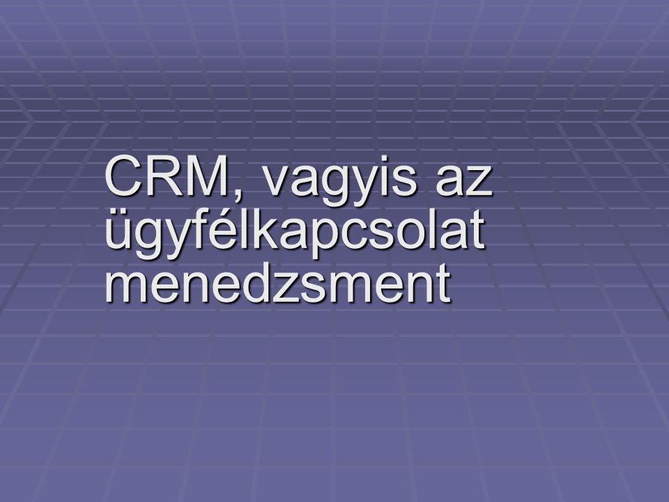 CRM, vagyis az ügyfélkapcsolat menedzsment