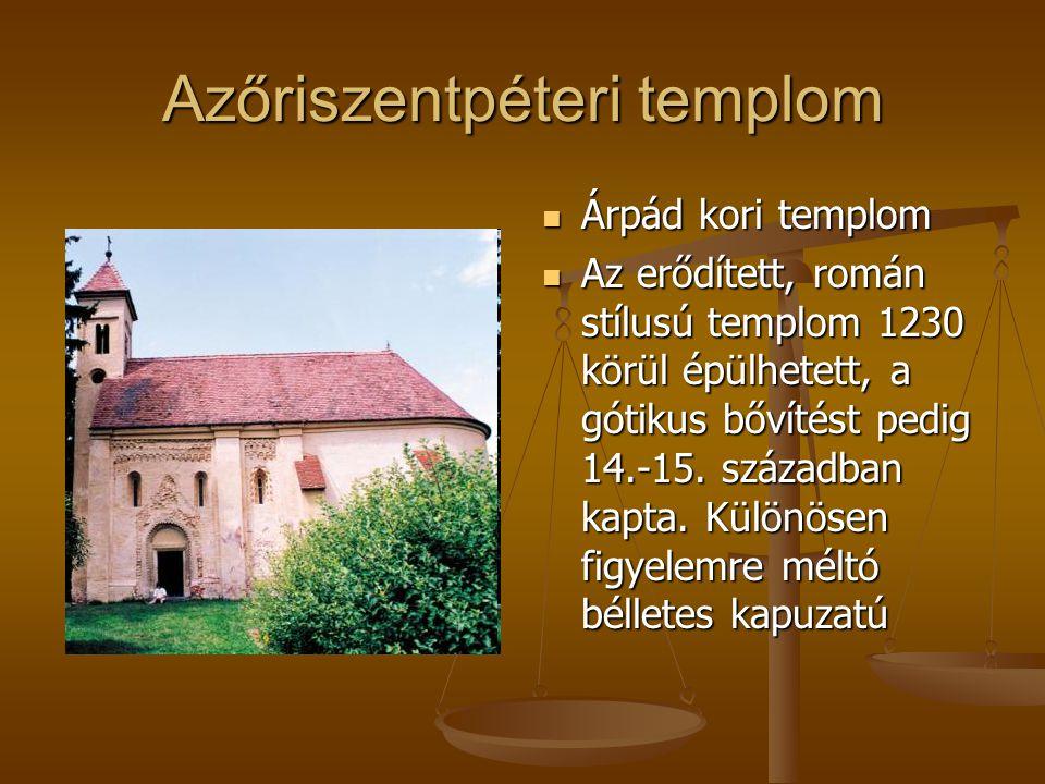 Azőriszentpéteri templom