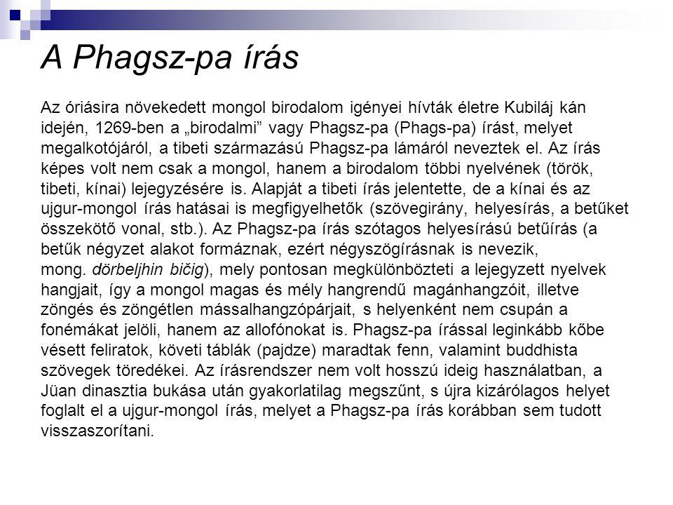 A Phagsz-pa írás