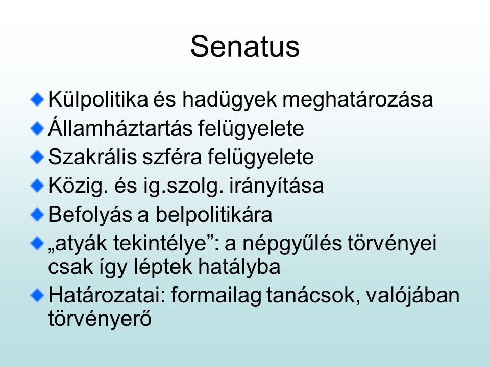 Senatus Külpolitika és hadügyek meghatározása