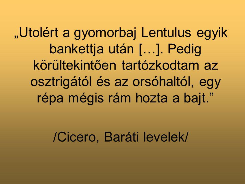 /Cicero, Baráti levelek/