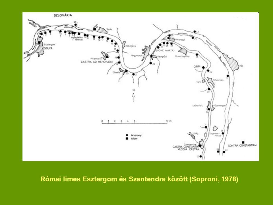 Római limes Esztergom és Szentendre között (Soproni, 1978)