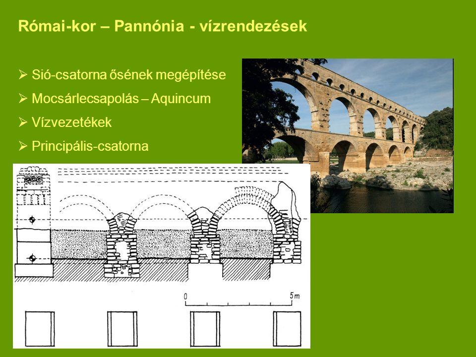 Római-kor – Pannónia - vízrendezések