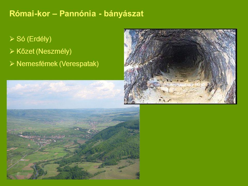 Római-kor – Pannónia - bányászat