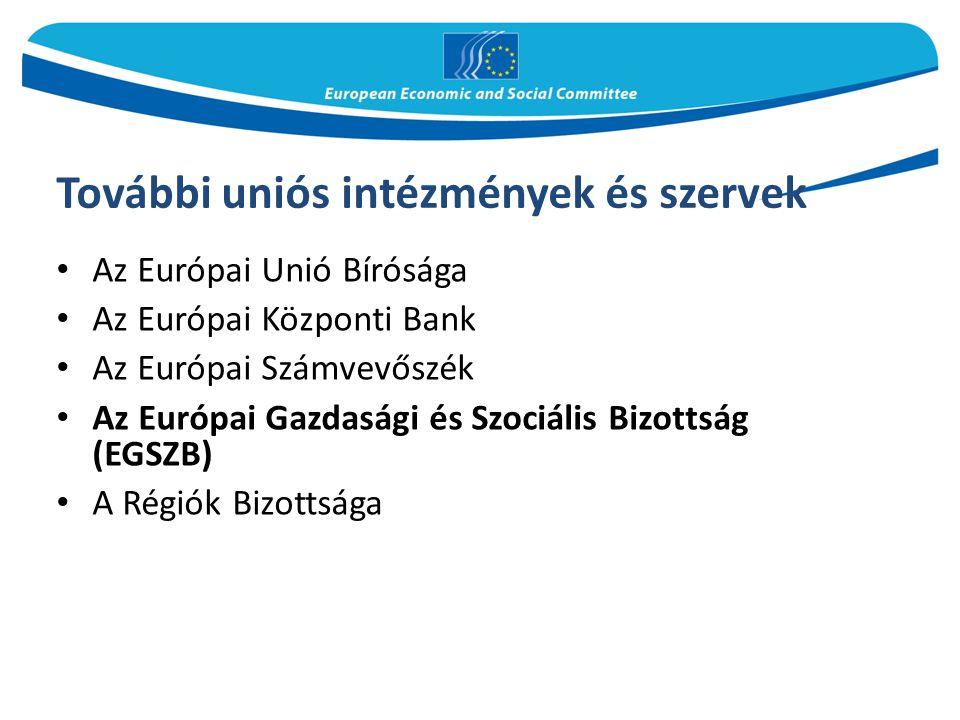 További uniós intézmények és szervek