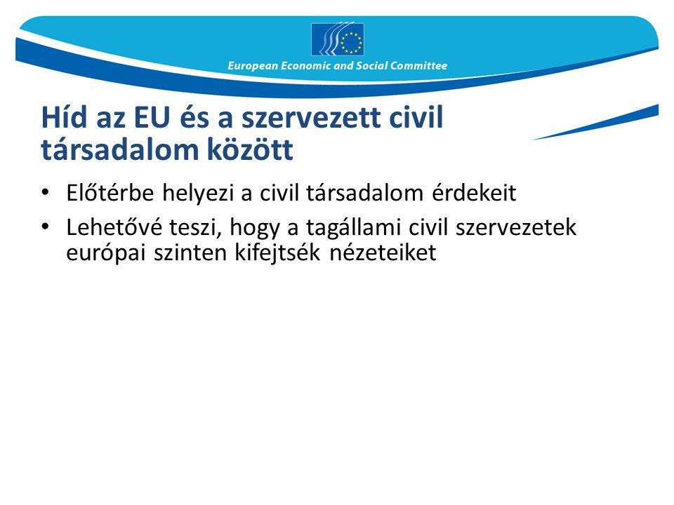 Híd az EU és a szervezett civil társadalom között