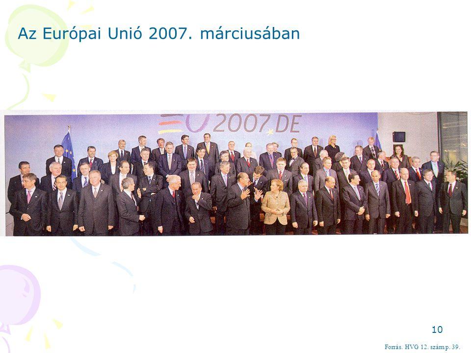 Az Európai Unió 2007. márciusában