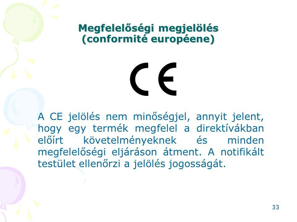 Megfelelőségi megjelölés (conformité européene)