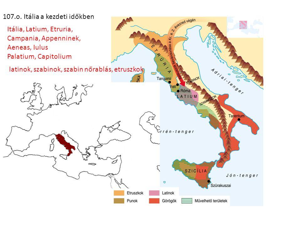 107.o. Itália a kezdeti időkben