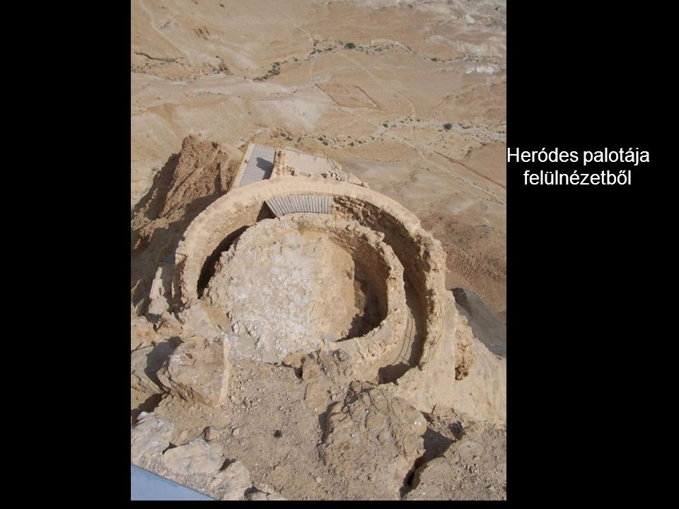 Heródes palotája felülnézetből