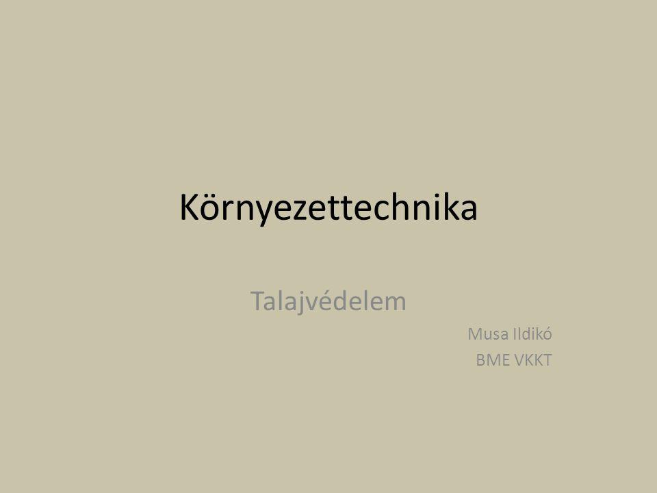 Talajvédelem Musa Ildikó BME VKKT