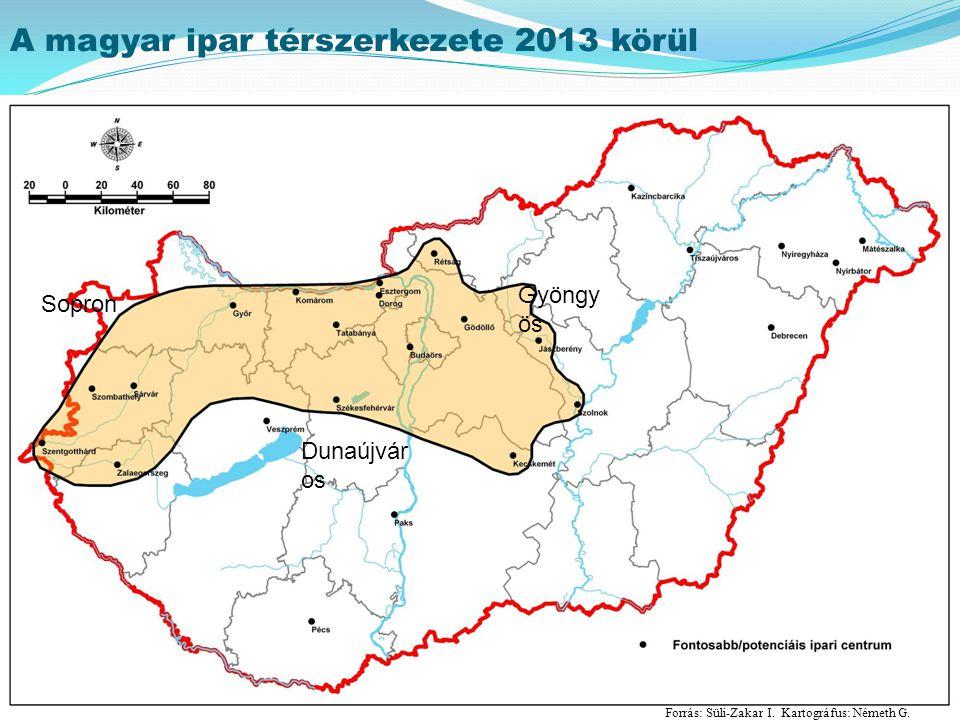 A magyar ipar térszerkezete 2013 körül