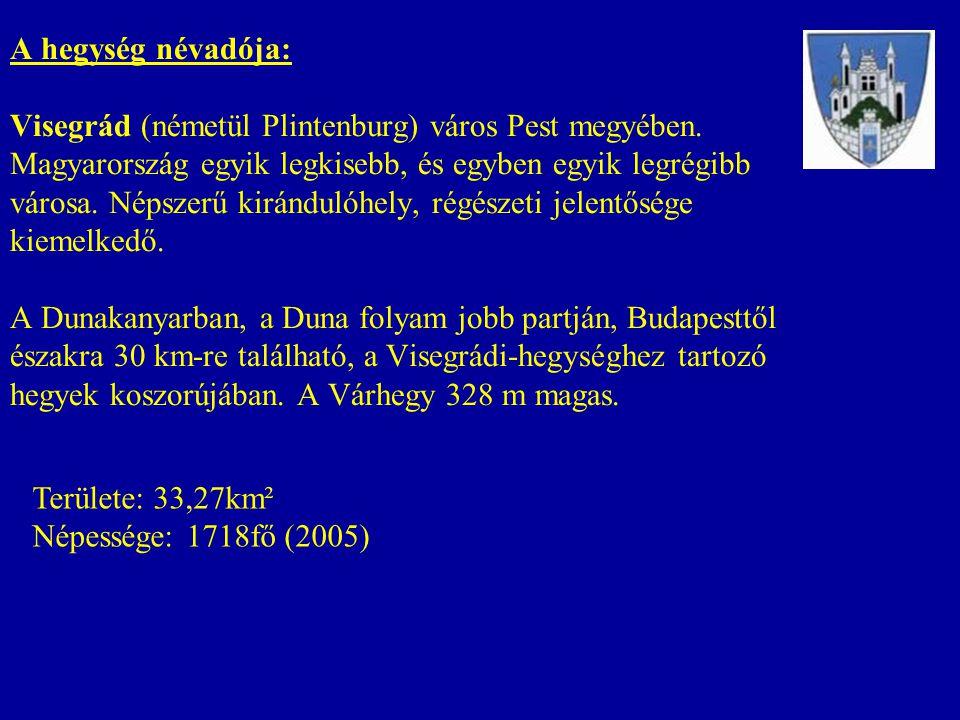 A hegység névadója: Visegrád (németül Plintenburg) város Pest megyében