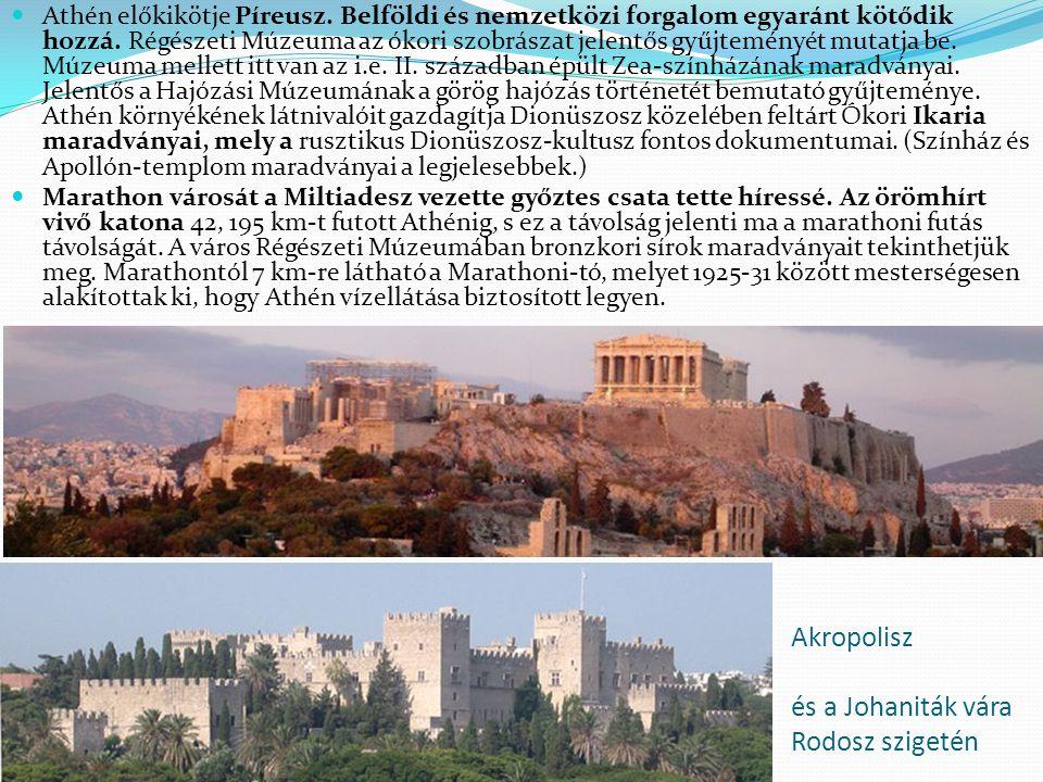 Akropolisz és a Johaniták vára Rodosz szigetén