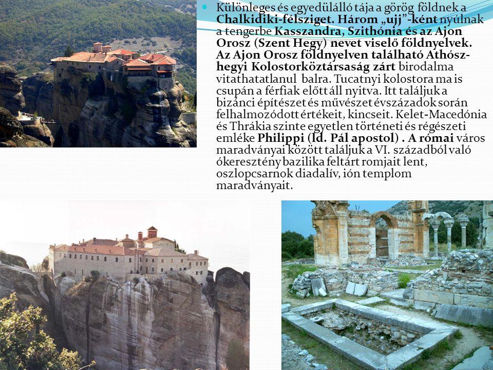 Különleges és egyedülálló tája a görög földnek a Chalkidiki-félsziget