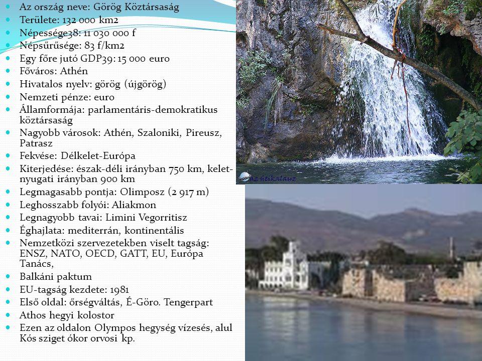 Az ország neve: Görög Köztársaság