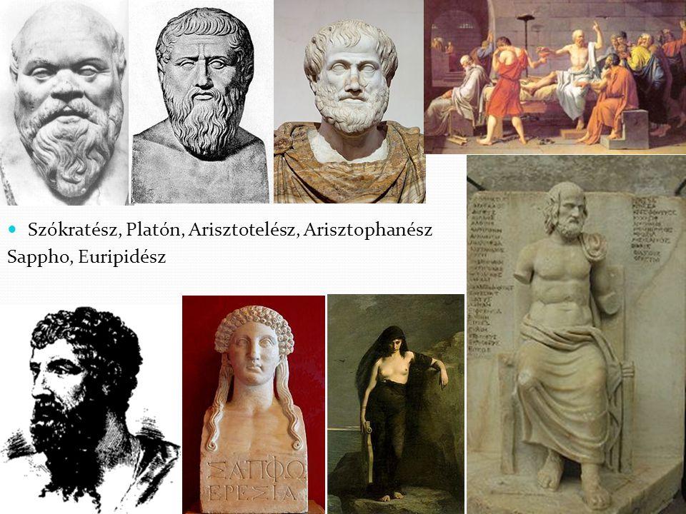 Szókratész, Platón, Arisztotelész, Arisztophanész