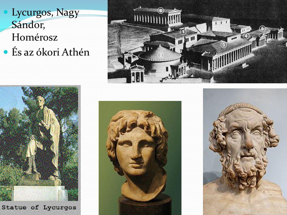 Lycurgos, Nagy Sándor, Homérosz