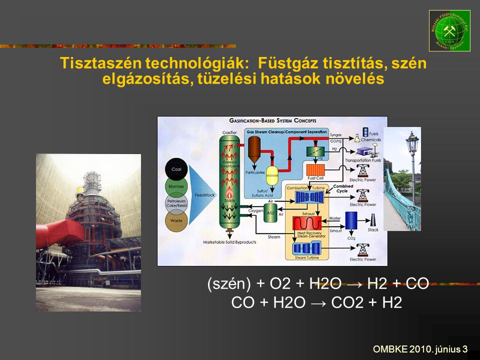 Tisztaszén technológiák: Füstgáz tisztítás, szén elgázosítás, tüzelési hatások növelés